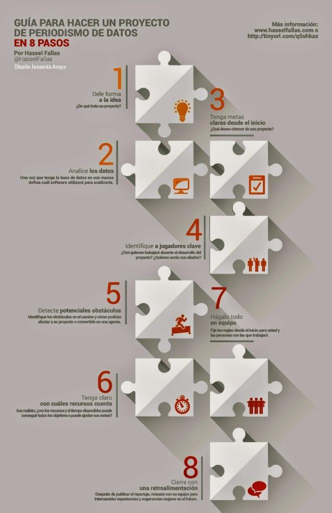 8 pasos proyecto periodismo de datos Español