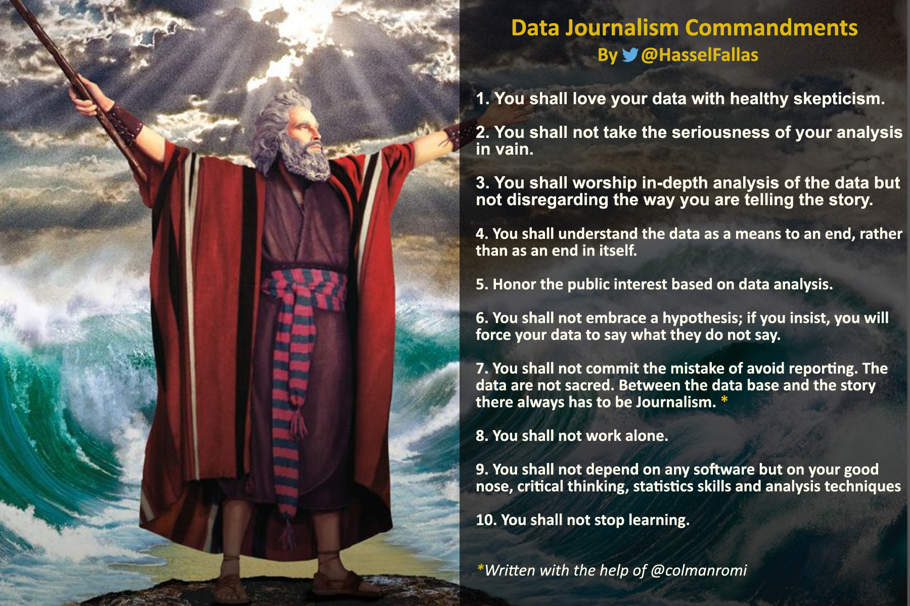 mandamientos del periodismo de datos